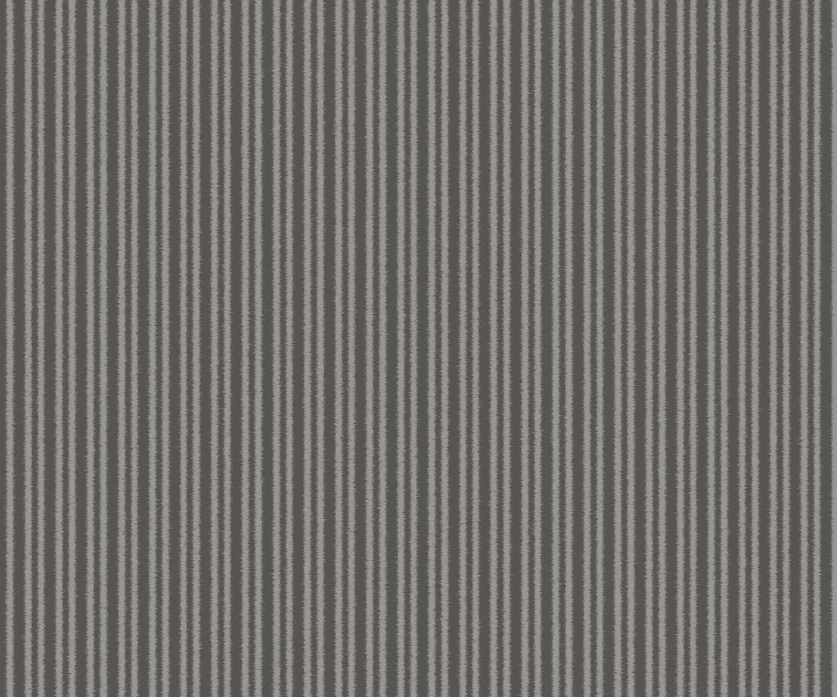 COTTON STRIPE CHARCOAL A Milan-Wallpaper-CO00150