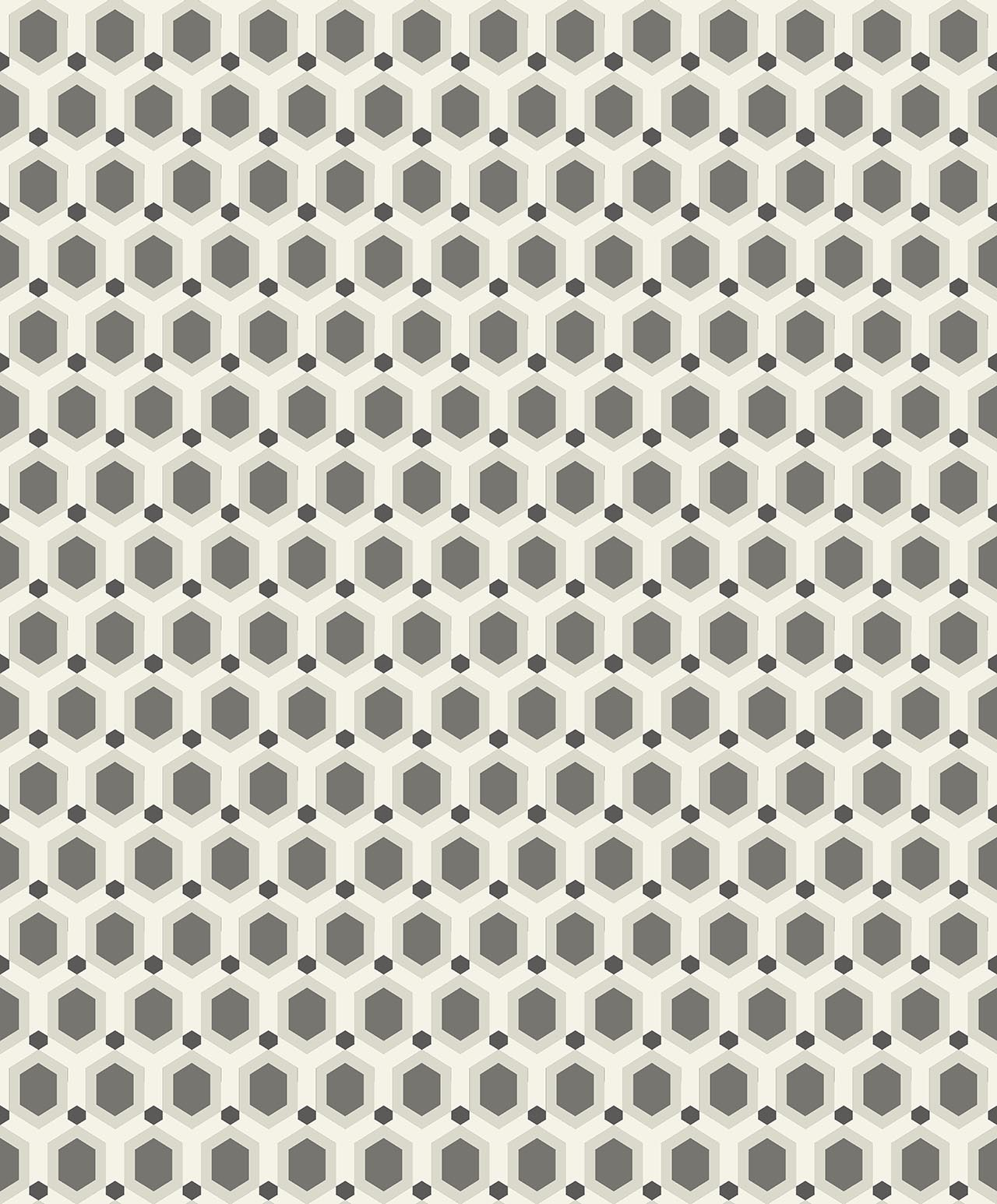 HONEYCOMB SILVER  A decadence wallpaper-DC00173