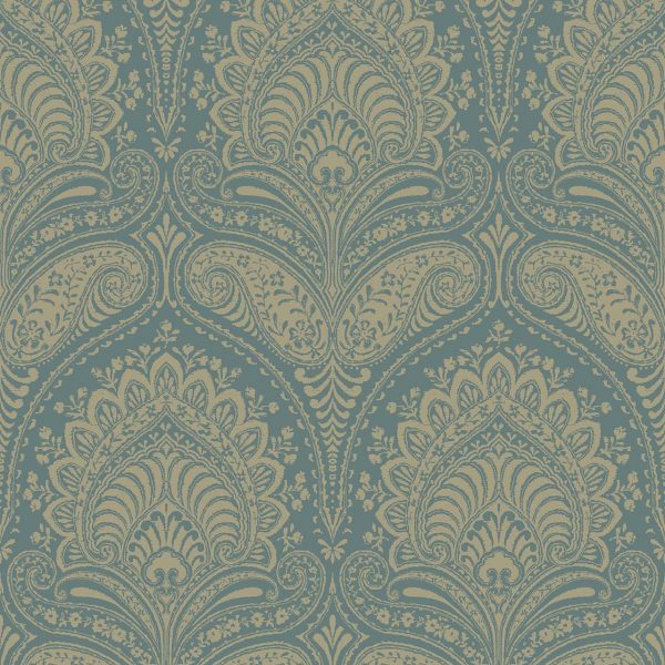 REGAL TEAL A Milan-Wallpaper