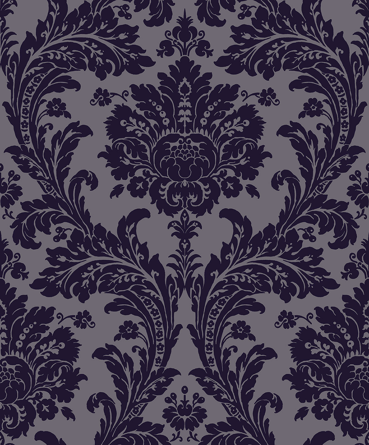 REGENCY GRAND DAMASK ROYAL BLUE D PV00221