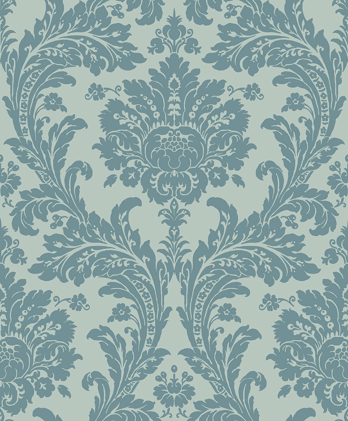 REGENCY GRAND DAMASK TEAL D PV00222