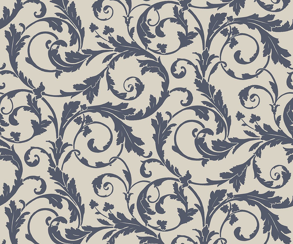 REGENCY SCROLL BLUE A PV00234