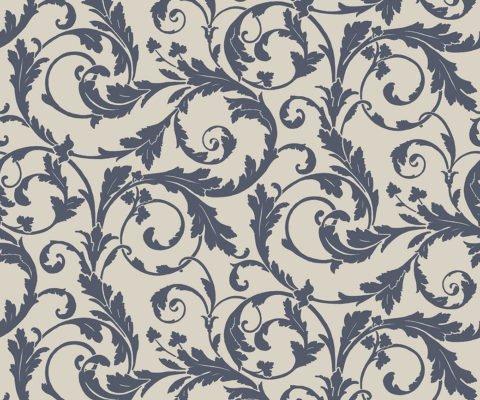REGENCY SCROLL BLUE