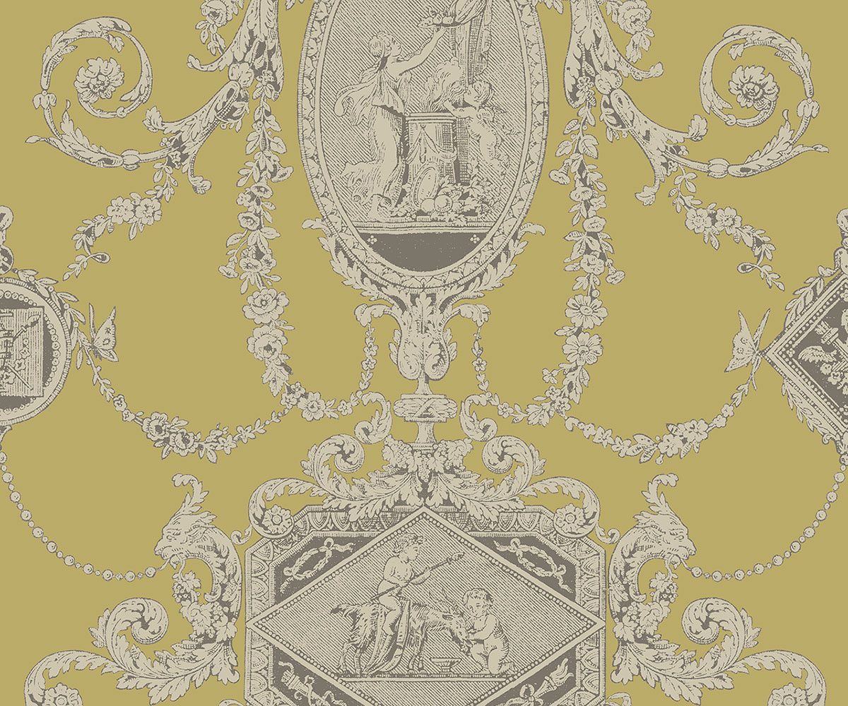 REGENCY TOILE CHARTREUSE A PV00202