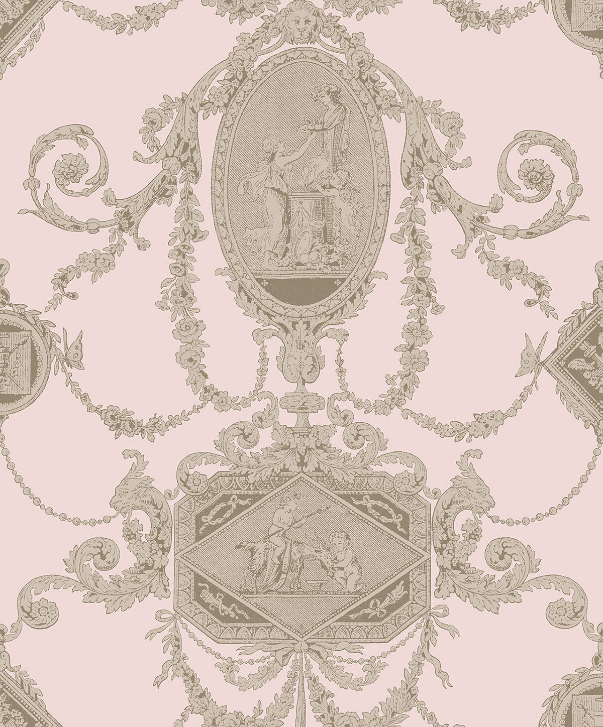 REGENCY TOILE CORAL A PV00203