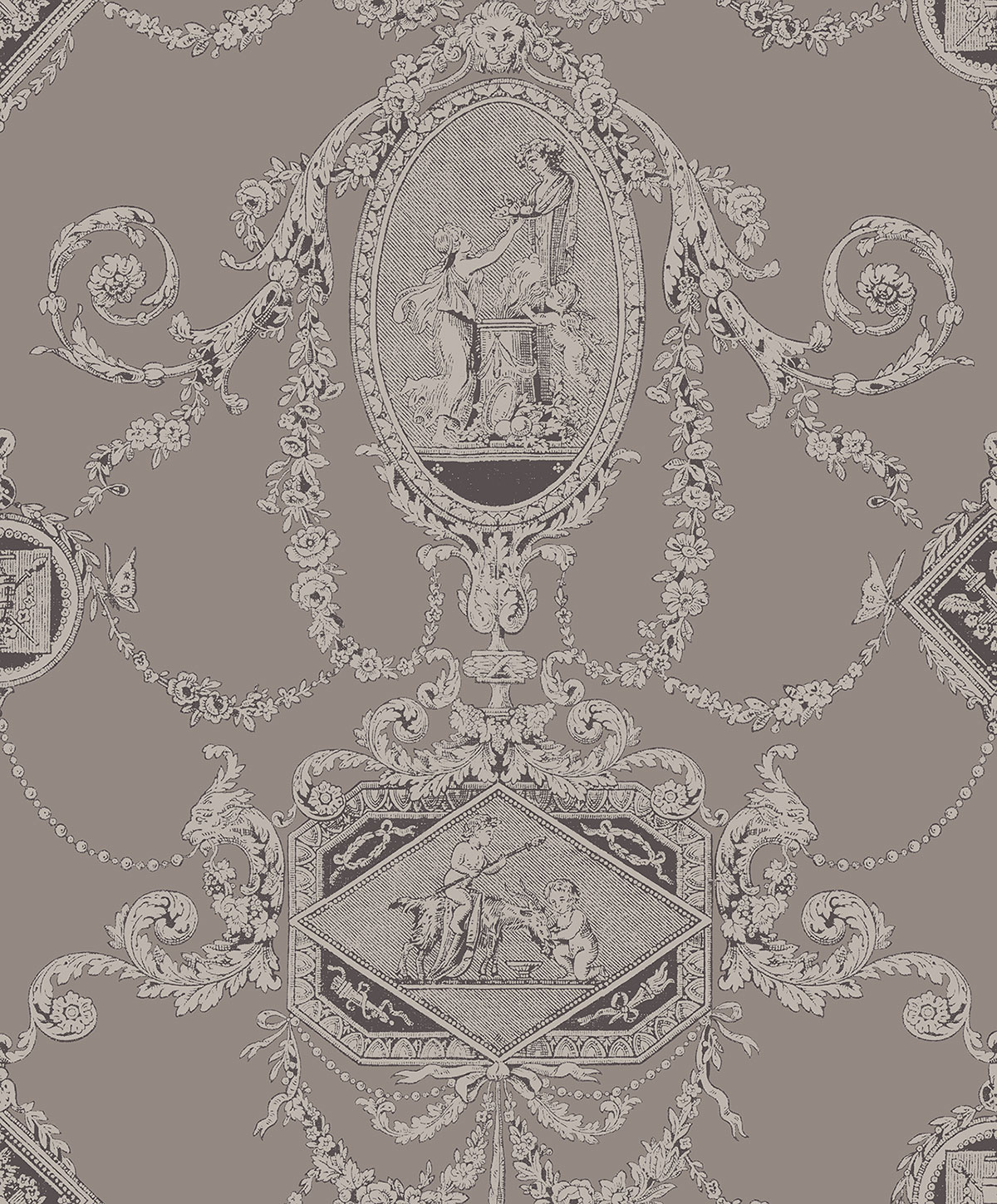 REGENCY TOILE PEWTER A PV00201