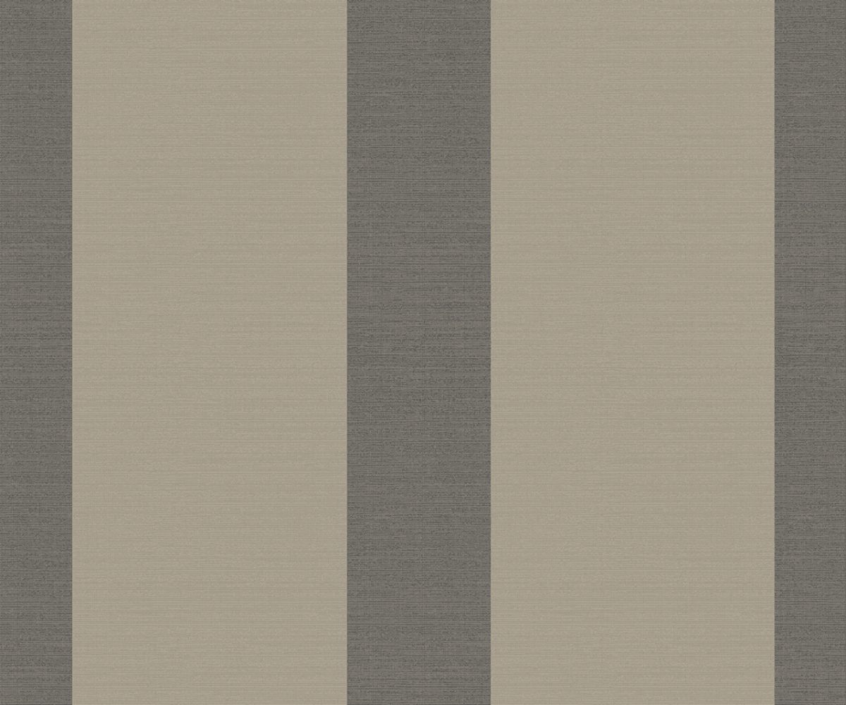 WIDE STRIPE BLACK & GOLD A Milan-Wallpaper-CO00111