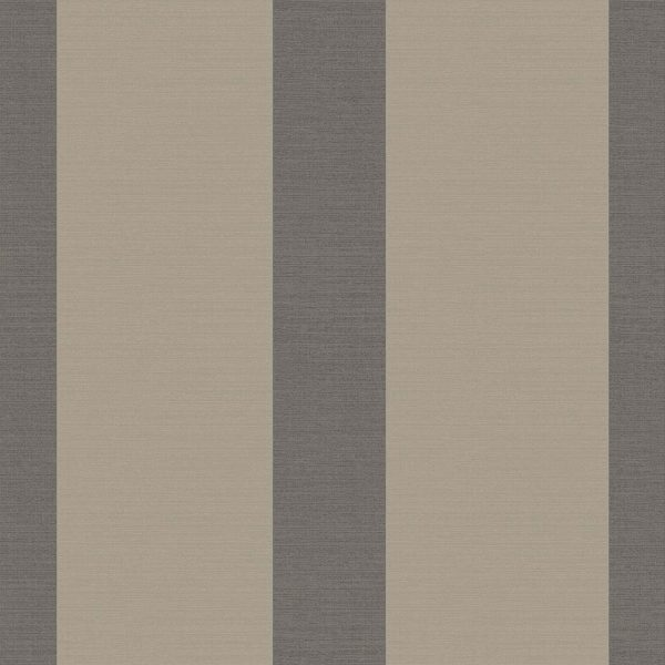 WIDE STRIPE BLACK & GOLD A Milan-Wallpaper