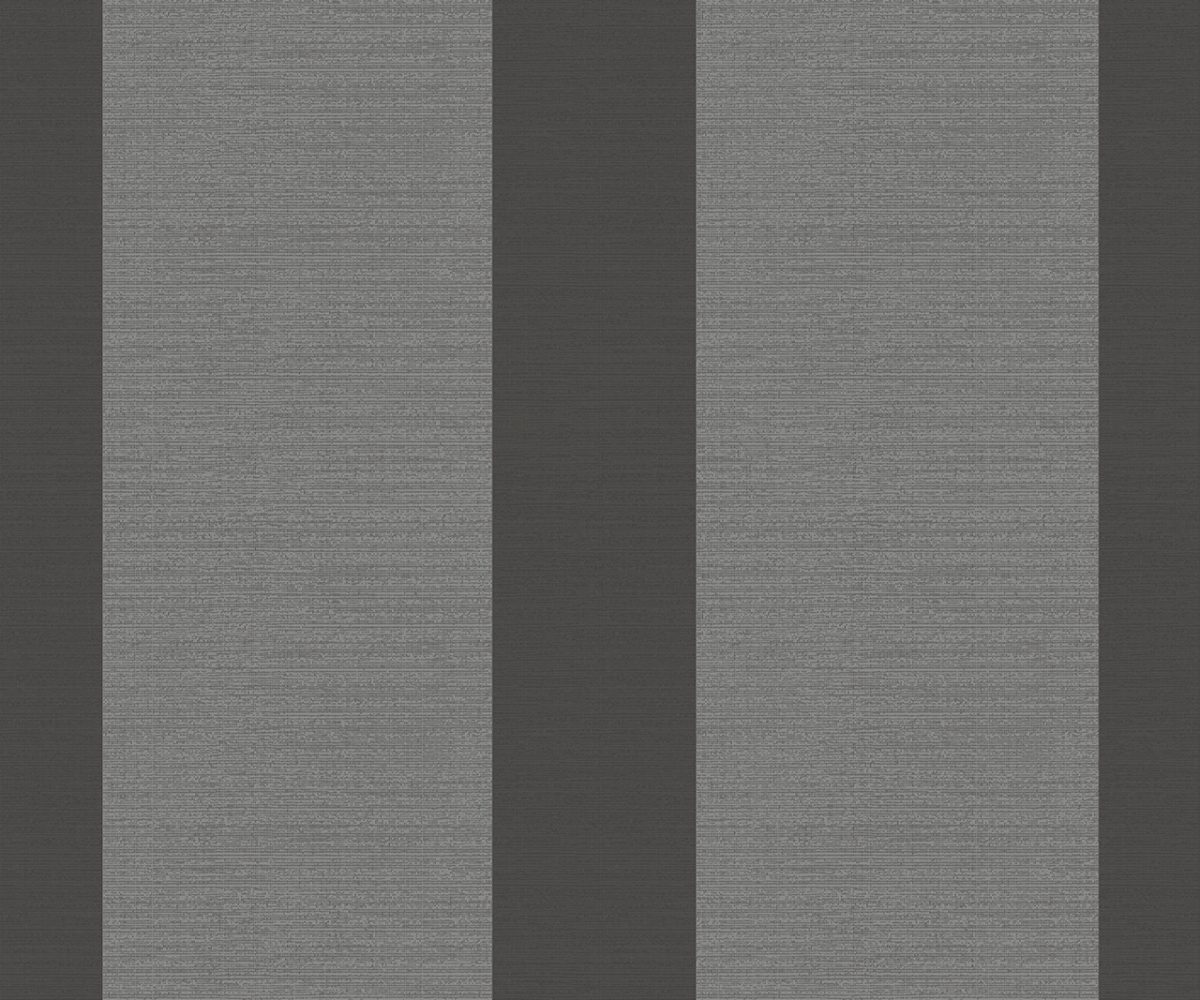 WIDE STRIPE CHARCOAL A Milan-Wallpaper-CO00109