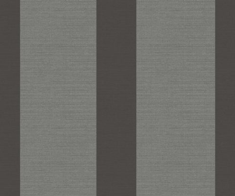 WIDE STRIPE CHARCOAL A Milan-Wallpaper