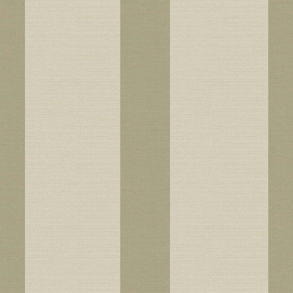 WIDE STRIPE OLIVE Milan-Wallpaper