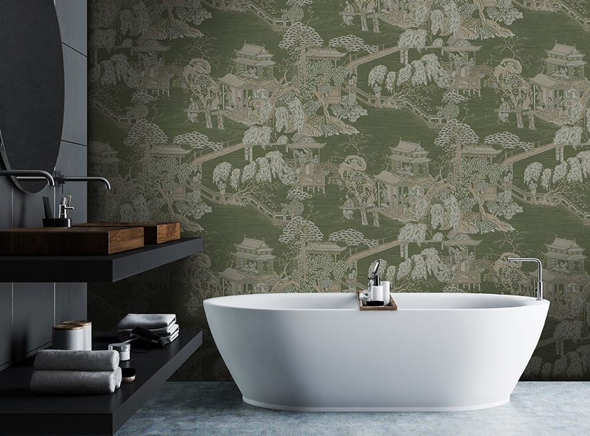Oriental luxury wallpaper design